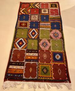 Atlas Showroom Berber Medium Rug Handwoven in Morocco with Polychrome Panels - 1156739