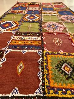 Atlas Showroom Berber Medium Rug Handwoven in Morocco with Polychrome Panels - 1156740