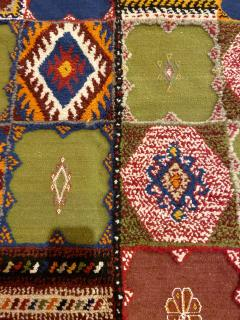 Atlas Showroom Berber Medium Rug Handwoven in Morocco with Polychrome Panels - 1156741