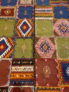 Atlas Showroom Berber Medium Rug Handwoven in Morocco with Polychrome Panels - 1156742