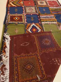 Atlas Showroom Berber Medium Rug Handwoven in Morocco with Polychrome Panels - 1156745