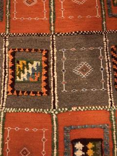 Atlas Showroom Berber Medium Rug Tribal Handwoven Wool 100 Organic Dye - 1148007