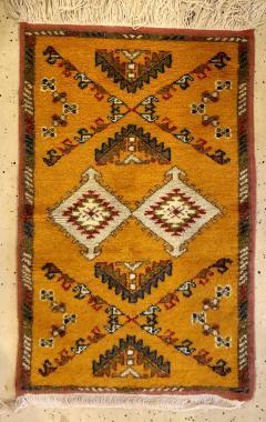 Atlas Showroom Berber Rug Handwoven X Pattern and Diamond Center - 1154440