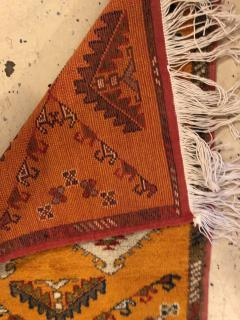 Atlas Showroom Berber Rug Handwoven X Pattern and Diamond Center - 1154445