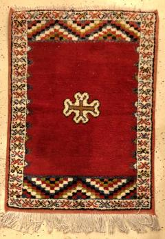 Atlas Showroom Berber Rug Small Handwoven Wool with Organic Dyes - 1156870