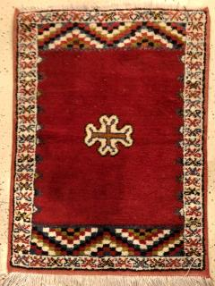 Atlas Showroom Berber Rug Small Handwoven Wool with Organic Dyes - 1156871