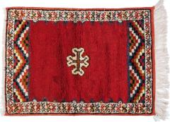 Atlas Showroom Berber Rug Small Handwoven Wool with Organic Dyes - 1156917