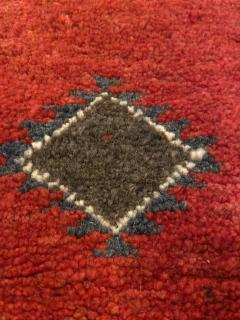 Atlas Showroom Berber Runner Rug with Handwoven Minimalist Pattern in Wool - 1156787
