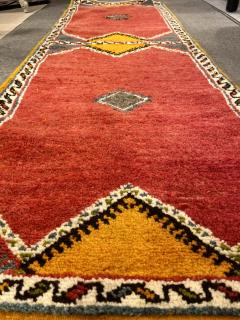 Atlas Showroom Berber Runner Rug with Handwoven Minimalist Pattern in Wool - 1156788