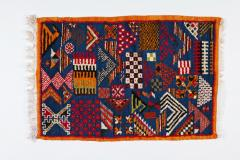 Atlas Showroom Berber Small Rug Handwoven with Abstract and Geometric Designs - 1154207