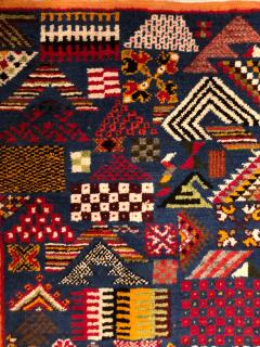 Atlas Showroom Berber Small Rug Handwoven with Abstract and Geometric Designs - 1154210