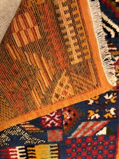 Atlas Showroom Berber Small Rug Handwoven with Abstract and Geometric Designs - 1154212