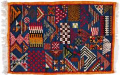 Atlas Showroom Berber Small Rug Handwoven with Abstract and Geometric Designs - 1154217