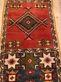 Atlas Showroom Berber Tribal Moroccan Multicolor Wool Runner Rug - 1145110