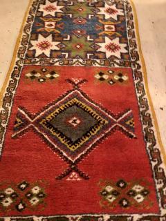 Atlas Showroom Berber Tribal Moroccan Multicolor Wool Runner Rug - 1145111