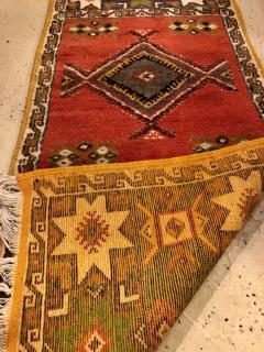 Atlas Showroom Berber Tribal Moroccan Multicolor Wool Runner Rug - 1145113