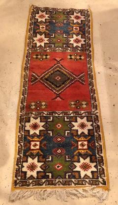 Atlas Showroom Berber Tribal Moroccan Multicolor Wool Runner Rug - 1145117