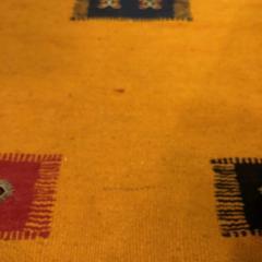 Atlas Showroom Berber Tribal Moroccan Mustard Yellow Runner Wool Rug - 1145098