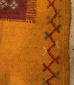 Atlas Showroom Berber Tribal Moroccan Mustard Yellow Runner Wool Rug - 1145100