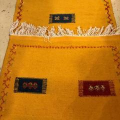 Atlas Showroom Berber Tribal Moroccan Mustard Yellow Runner Wool Rug - 1145101