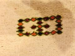 Atlas Showroom Berber Tribal Moroccan Off White Runner Wool Rug - 1145091