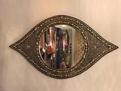 Atlas Showroom Eye Ball Form Art Deco Style Metal Wall Mirror - 1030793