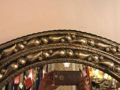Atlas Showroom Eye Ball Form Art Deco Style Metal Wall Mirror - 1030794
