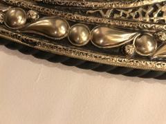Atlas Showroom Eye Ball Form Art Deco Style Metal Wall Mirror - 1030795