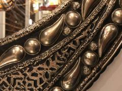 Atlas Showroom Eye Ball Form Art Deco Style Metal Wall Mirror - 1030796