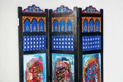 Atlas Showroom Hand Painted Moroccan Room Divider or Folding Screen - 1030824