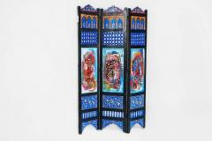 Atlas Showroom Hand Painted Moroccan Room Divider or Folding Screen - 1030825