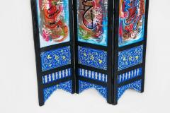 Atlas Showroom Hand Painted Moroccan Room Divider or Folding Screen - 1030826