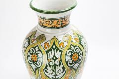 Atlas Showroom Hand painted Jana Green Large Vase - 1062552