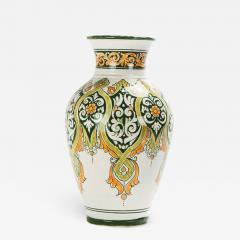Atlas Showroom Hand painted Jana Green Large Vase - 1063105