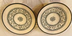 Atlas Showroom Large Hand made Ceramic Green Serving Decorative or Center Table Plate - 1164557