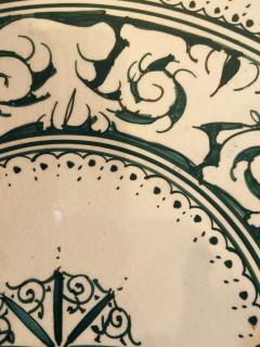 Atlas Showroom Large Hand made Ceramic Green Serving Decorative or Center Table Plate - 1164559