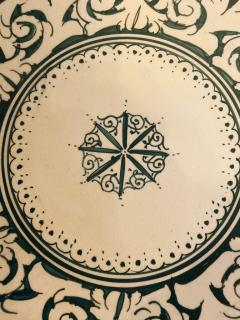 Atlas Showroom Large Hand made Ceramic Green Serving Decorative or Center Table Plate - 1164561