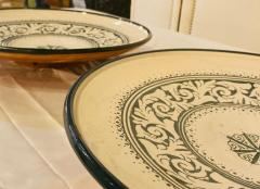 Atlas Showroom Large Hand made Ceramic Green Serving Decorative or Center Table Plate - 1164562