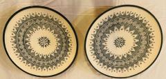 Atlas Showroom Large Handmade Ceramic Dark Green Serving Decorative or Center Table Plate - 1164539