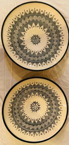 Atlas Showroom Large Handmade Ceramic Dark Green Serving Decorative or Center Table Plate - 1164543