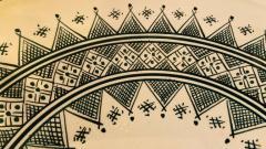 Atlas Showroom Large Handmade Ceramic Dark Green Serving Decorative or Center Table Plate - 1164544