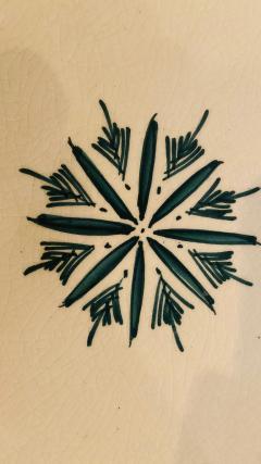 Atlas Showroom Large Handmade Ceramic Dark Green Serving Decorative or Center Table Plate - 1164545