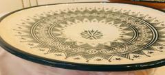 Atlas Showroom Large Handmade Ceramic Dark Green Serving Decorative or Center Table Plate - 1164546