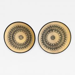 Atlas Showroom Large Handmade Ceramic Dark Green Serving Decorative or Center Table Plate - 1165371