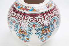 Atlas Showroom Majestic Blue and Red Round Moorish Vase - 1062560