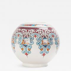 Atlas Showroom Majestic Blue and Red Round Moorish Vase - 1063108