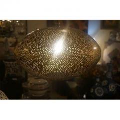 Atlas Showroom Medium Oval Shaped Brass Pendant Chandelier - 1037042