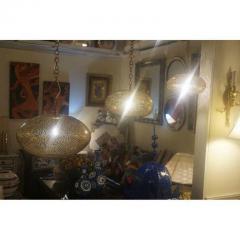 Atlas Showroom Medium Oval Shaped Brass Pendant Chandelier - 1037043