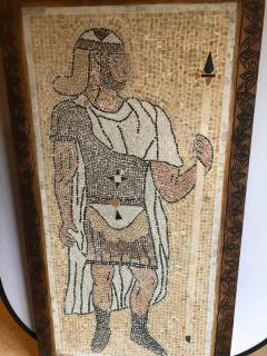 Atlas Showroom Micro Mosaic Tile Wall Plaque or Table Top of a Centurion in Wood Frame - 1037074