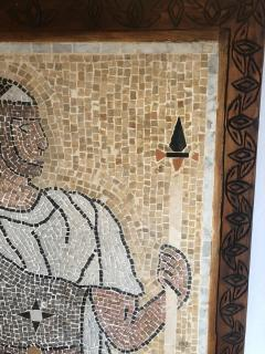 Atlas Showroom Micro Mosaic Tile Wall Plaque or Table Top of a Centurion in Wood Frame - 1037076